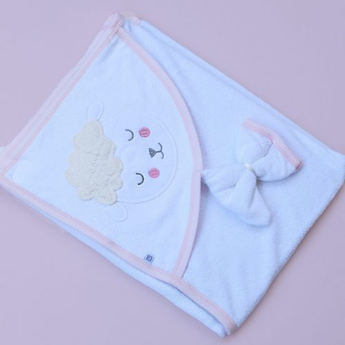 Pink Sheep baby towel