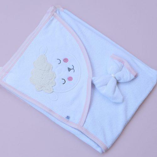 Pink Sheep baby towel