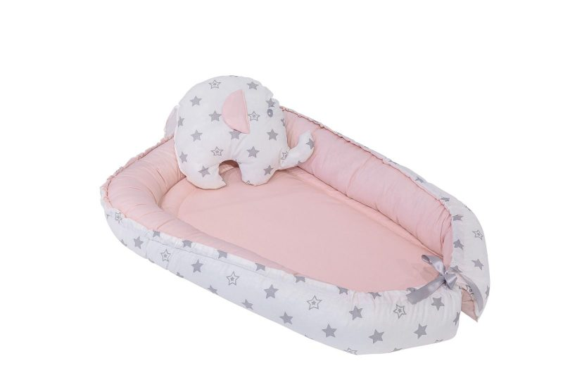 Pink stars baby nest