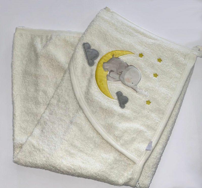 sleepy elephant towel
