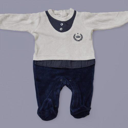 marine blue baby overall