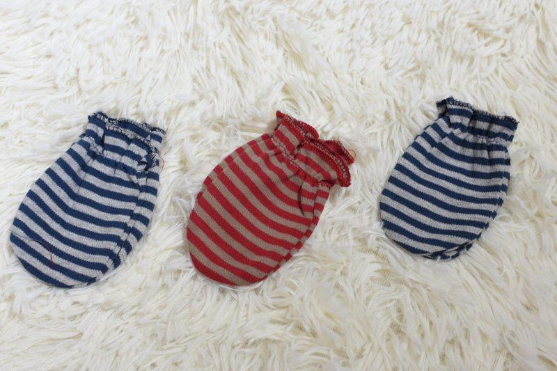 Infant girl cotton gloves