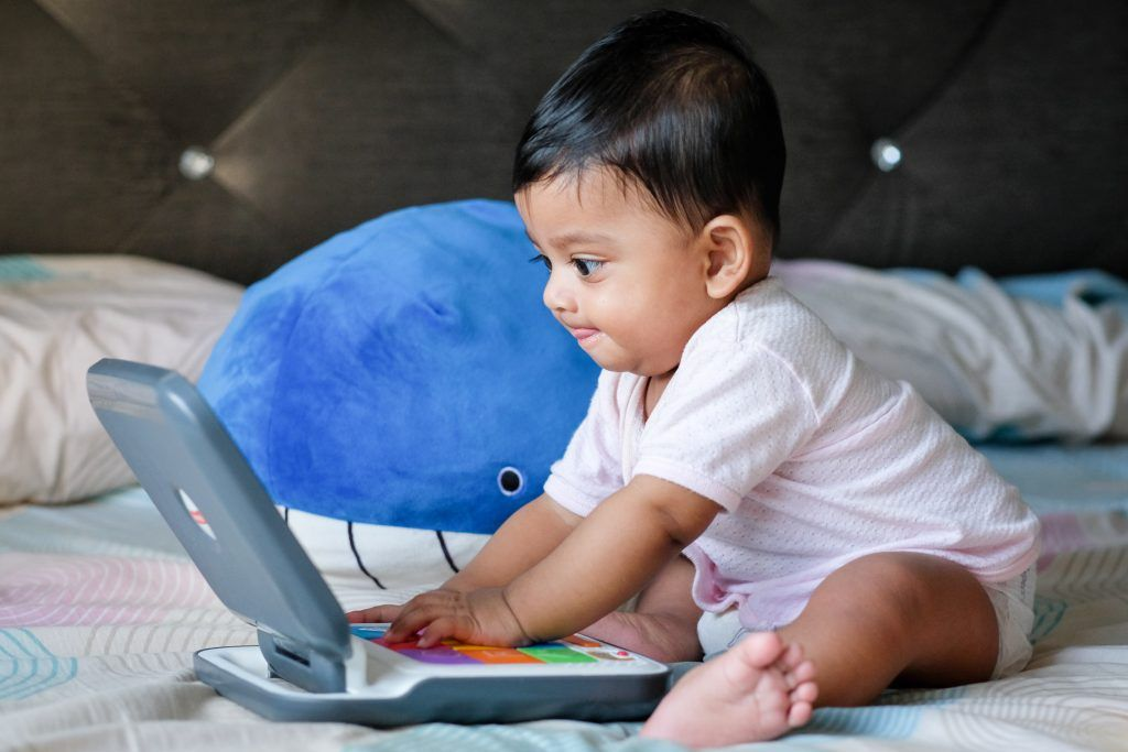 Teaching your baby new skills has a nice soothing effect.