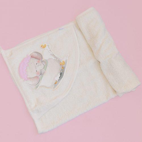 baby girl towel - little elephant