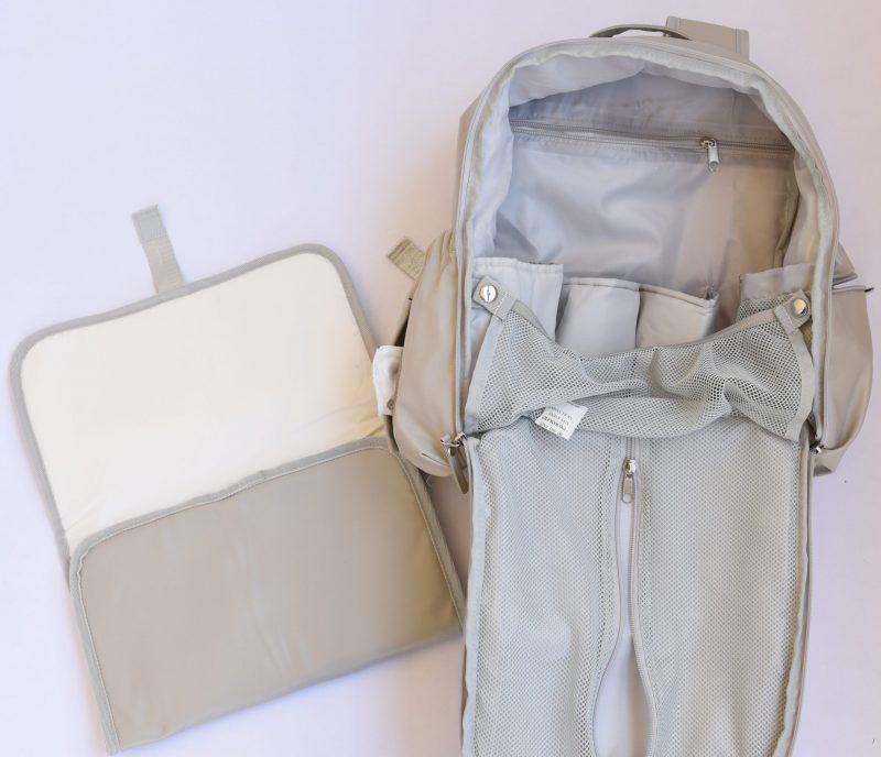 diaper backpack gray