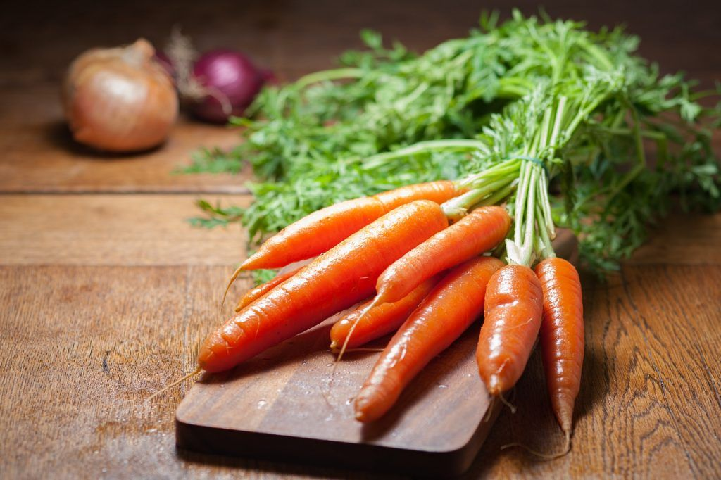 Quick carrots for lunch
