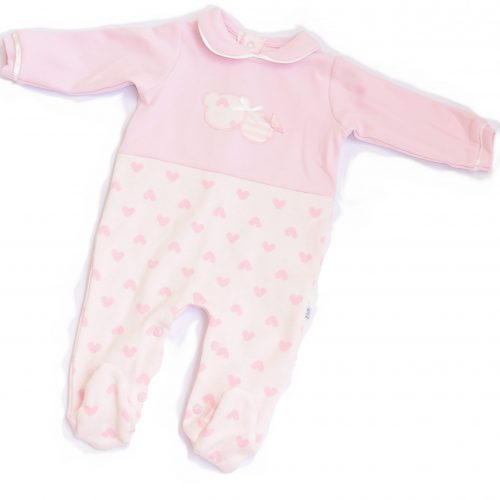 pink heart overall