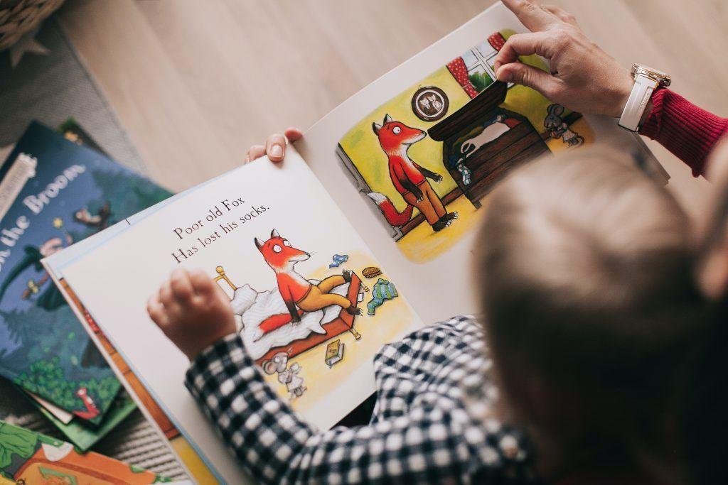Tell your child stories that teach good behavior.